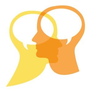 Icon: Seelenverwandtschaft / orange-gelb, Vektor, freigestellt